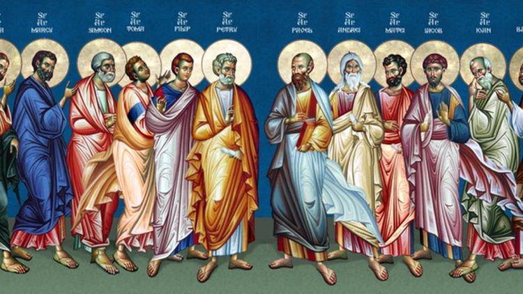 Събор на свети славни и всехвални 12 апостоли. Имен ден празнува ...